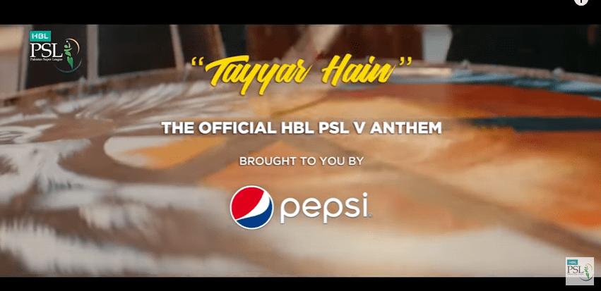 PSL 2020 Anthem Tayar hain