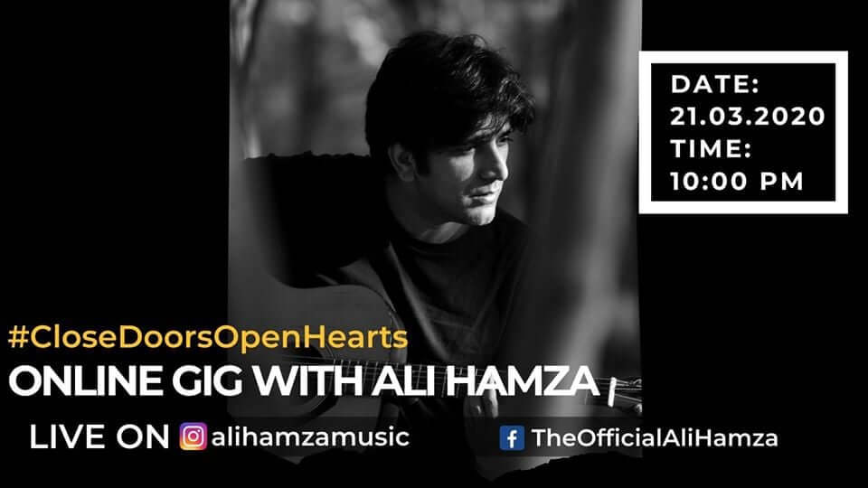 Ali Hamza from Noori Band and his team just performed online on Facebook and Instagram