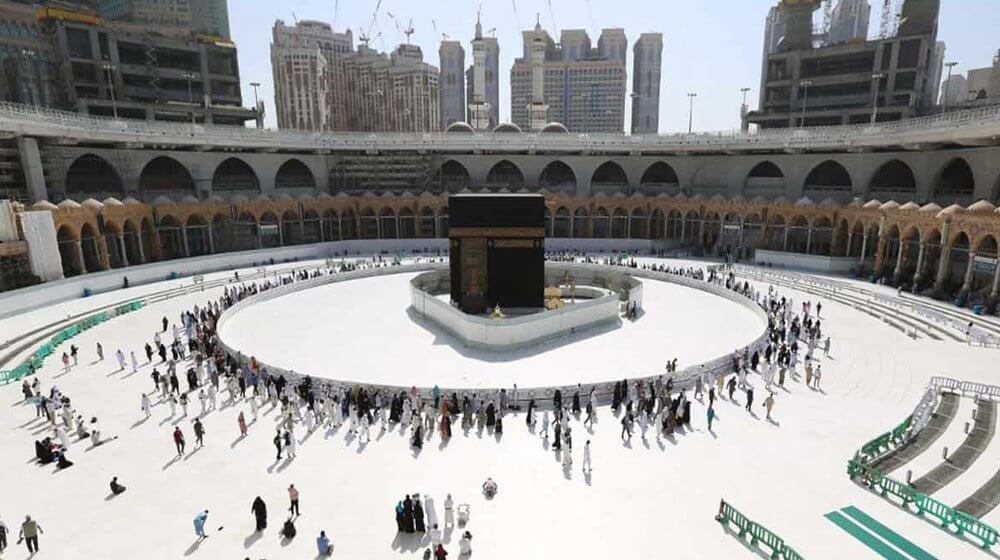 Holy Kaaba is now open for Tawaf in Mataaf area