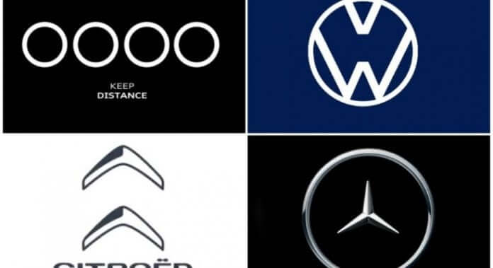Social Distance message by Car Companies via their logo. Here is the list of car companies who came up with ideas to send a message of social distancing.