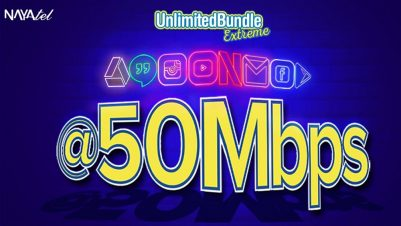 Unlimited Bundle Extreme. Nayatel takes Unlimited Bundle to next level and introduces Unlimited Bundle Extreme with 50 Mbps speed.